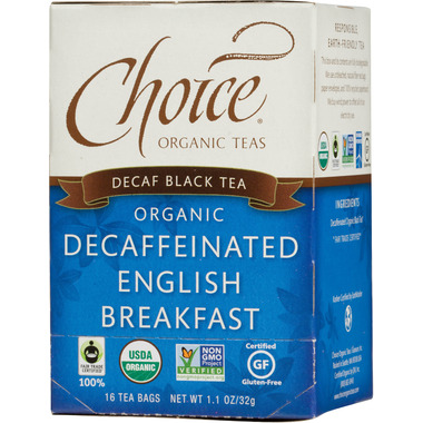 Choice Organic Teas Decaffeinated English Breakfast Tea