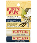 Burt's Bees Coconut Pear and Vanilla Bean Lip Balm Duo Pack