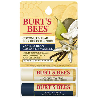 Burt\'s Bees Coconut Pear and Vanilla Bean Lip Balm Duo Pack