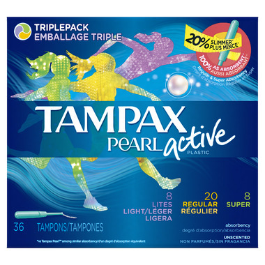 Tampax Pearl Active Tampons Regular