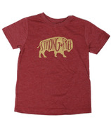 Little Orchard Co. Strong & Free Tee Burgundy
