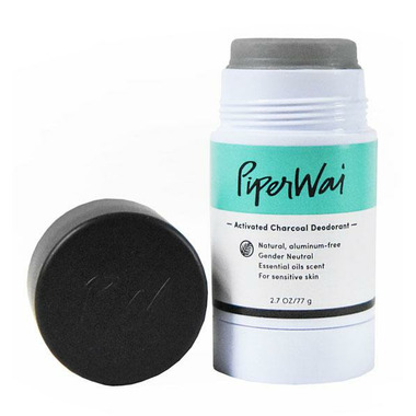 PiperWai Activated Charcoal Natural Deodorant Stick