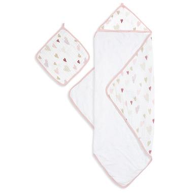aden + anais Muslin Backed Hooded Towel & Washcloth