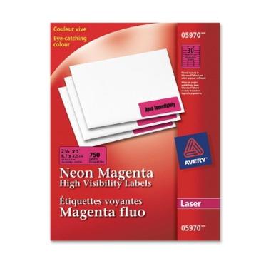 Avery Neon Magenta Laser Labels