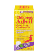 Advil Children's Suspension for Fever from Colds or Flu Dye Free Grape