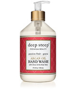 Deep Steep Argan Oil Liquid Hand Wash Passion Fruit Guava