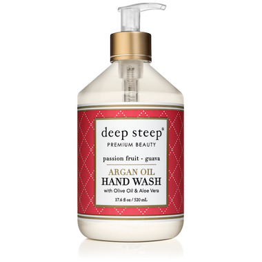 Deep Steep Argan Oil Liquid Hand Wash Passion Fruit Guava