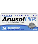 Anusol Plus Extra Pain Relief Suppositories