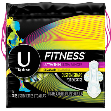 U by Kotex Fitness Ultra Thin Pads Regular
