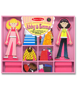 Melissa & Doug Abby and Emma Magnetic Dress Up Dolls