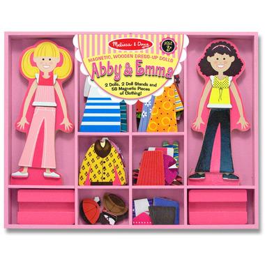 Melissa & Doug Abby and Emma Magnetic Dress Up Dolls