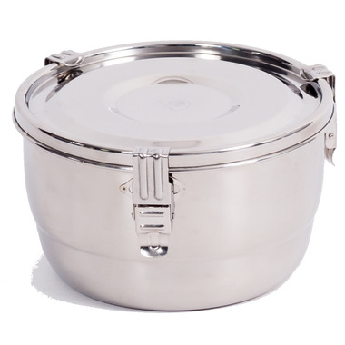 Onyx 3-Clip Airtight Stainless Steel Food Storage Container 10 cm