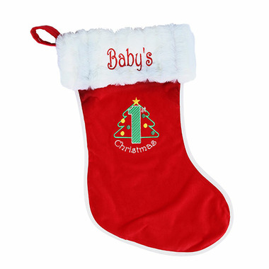 Snug As A Bug Baby\'s First Christmas Stocking