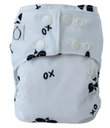 Omaiki One Size All-in-One Diaper Blacck & White Raccoon