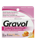 Gravol Quick Dissolve Chewable Tablets