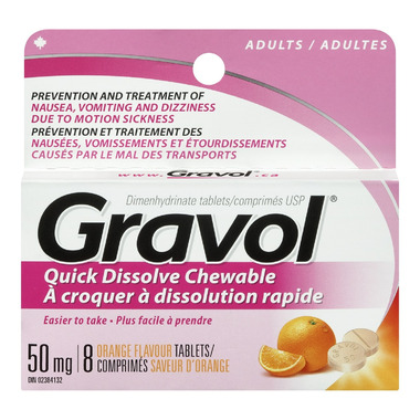 Gravol Quick Dissolve Chewable Tablets