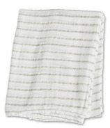 Lulujo Baby Muslin Cotton Swaddling Blanket Grey Messy Stripe