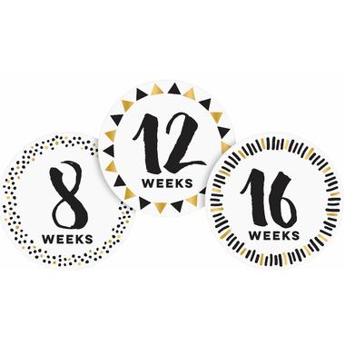 Pearhead Pregnancy Sticker White and Black