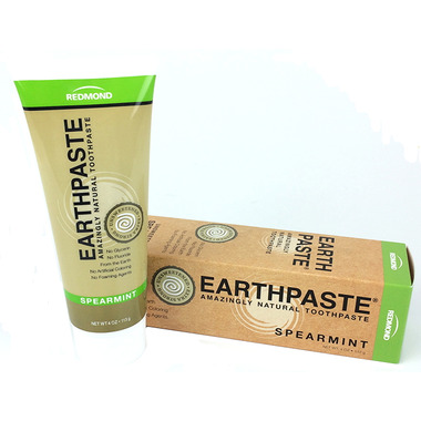 Redmond Earthpaste Amazingly Natural Toothpaste Unsweetened Spearmint