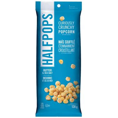 Halfpops Curiously Crunchy Popcorn Butter and Sea Salt