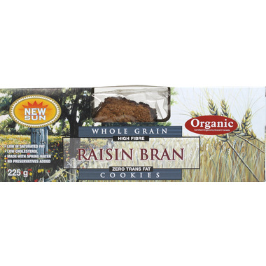 New Sun Whole Grain Raisin Bran Cookies