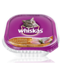 Whiskas Recloseable Tray Turkey and Giblets Dinner