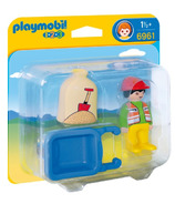 Playmobil 1.2.3 Worker with Wheelbarrow