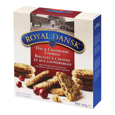 Royal Dansk Oat & Cranberry Cookies