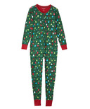Little Blue House Green Northern Light Unisex Adult Union Suit