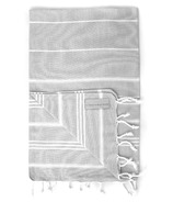 Stray & Wander Marin Turkish Hand Towel Light Grey