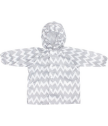 Bumkins Rain Jacket Grey Chevron