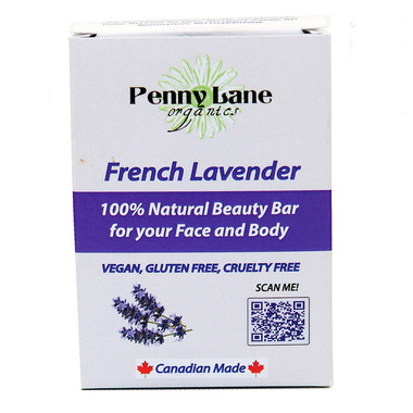Penny Lane Organics 100% Natural Beauty Bar French Lavender
