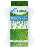 EcoForce Heavy Duty Recycled Kitchen Scourer Pads