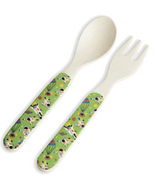 Little Blue House Kids Bamboo Utensils Space Cadet