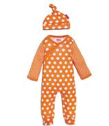 Skip Hop Pop Prints Sleeper & Hat Set Tangerine