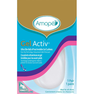 Amope Gel Activ Women\'s Ultra Slim Ball of Foot Invisible Gel Cushions