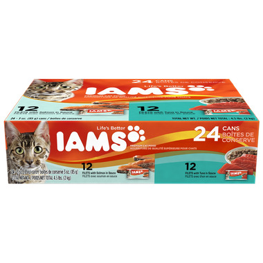 Iams Cat Food Filets Variety Pack