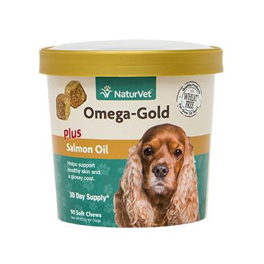 Naturvet Omega-Gold Plus Salmon Oil Soft Chews