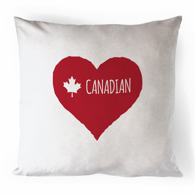 Printing Life Canada Canadian Heart Red Canvas Pillow