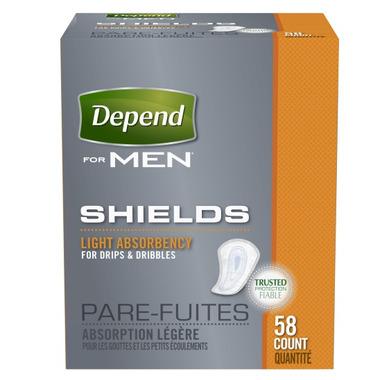 Depend Shields For Men Light Absorbency