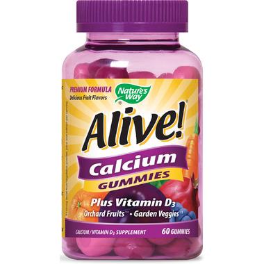 Nature\'s Way Alive Calcium Gummies Plus Vitamin D3