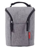 Skip Hop Grab & Go Double Bottle Bag Heather Grey