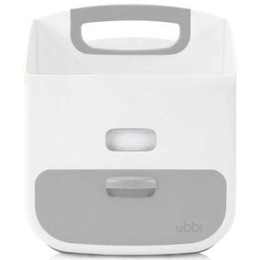 Ubbi Diaper Caddy White and Grey