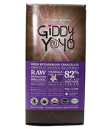 Giddy Yoyo Organic Raw Salt & Vanilla 82% Dark Chocolate Bar