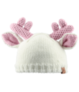 Bedford Road Off White Knitted Deer Ears Hat