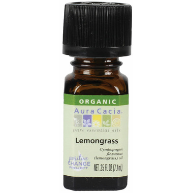 Aura Cacia Organic Lemongrass Essential Oil