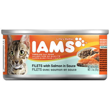 Iams Cat Food Filets with Salmon in Sauce