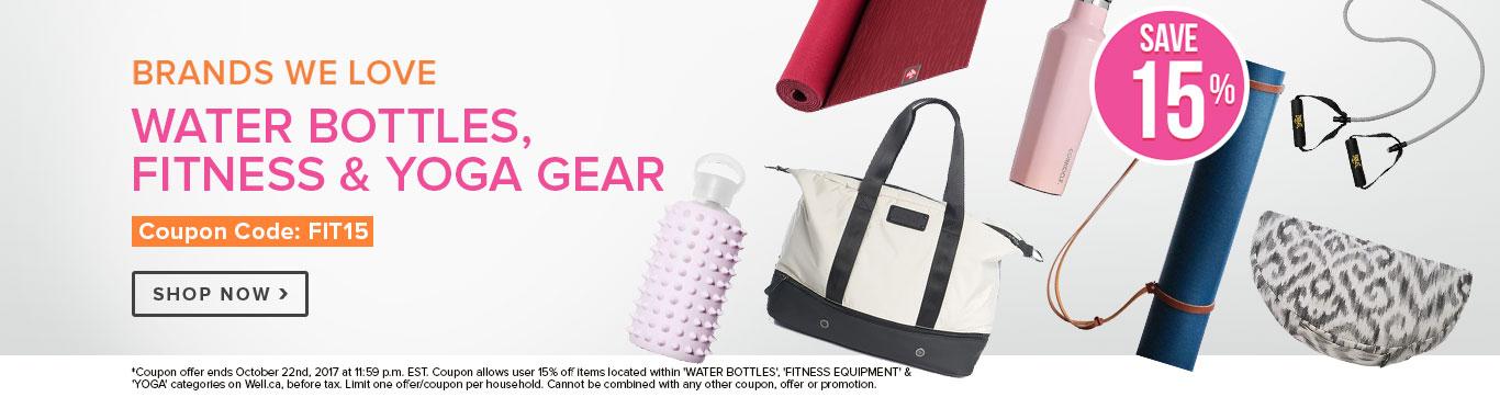15% off Fitness Equipment & Yoga Gear