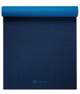 Gaiam Premium Longer/Wider Yoga Mat Midnight Blues