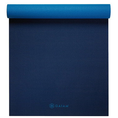 Gaiam Premium Longer/Wider Yoga Mat Midnight Blues